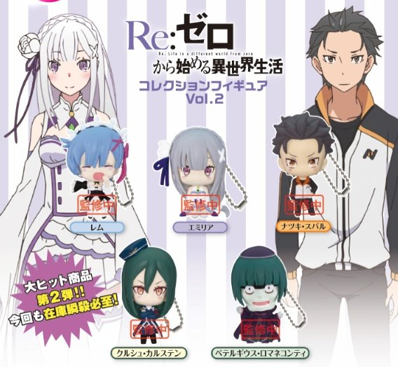 Re:Zero Starting Life in Another World - Collection Figure Vol. 2 Set of 5