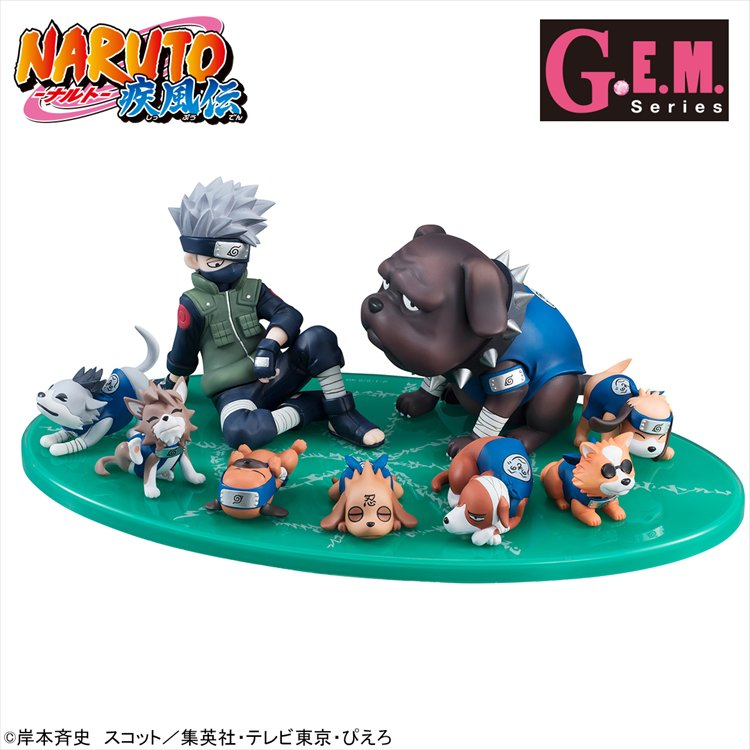 Naruto - Kakashi and Ninken (Ninja Dog) Set G.E.M Series Gaiden