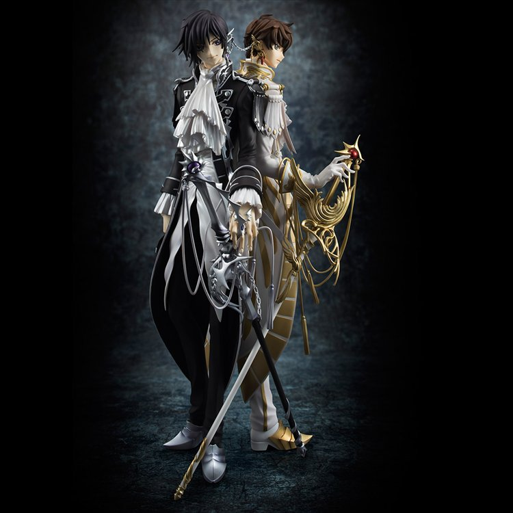Code Geass Lelouch of the Rebellion R2 - 1/8 Lelouch and Suzaku PVC Figures
