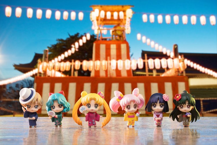 Sailor Moon - Petit Chara Sail Moon Soldiers of the Outer Solar System Set of 6