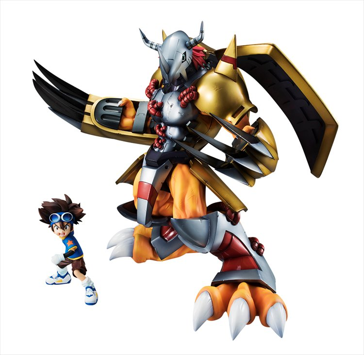 Digimon Adventure - Wargreymon and Tachi PVC Figure