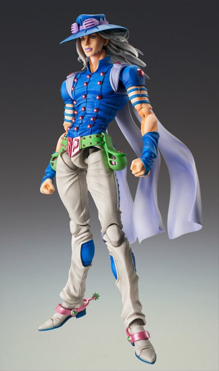 Jojos Bizarre Adventure Part VII Steel Ball Run - Gyro Zeppeli Ver. 2 Super Action Statue
