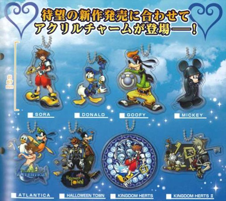 Kingdom Hearts - Acrylic Charm Set of 8