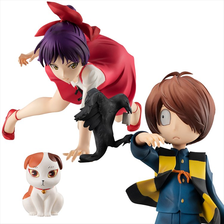 GeGeGe no Kitaro - 1/8 Kitaro and Nekomusume with Sunekosuri Set G.E.M PVC Figure