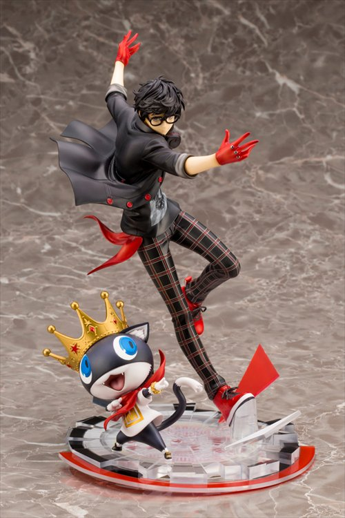 Persona 5 - 1/8 Akira Kurusu and Morgana Dancing Star Night ARTFX J Statue