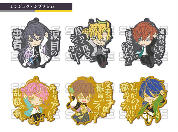 Hypnosis Mic - Shinjuku Shibuya Rubber Strap SINGLE BLIND BOX