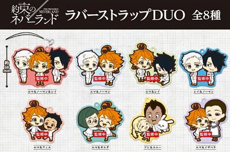 The Promised Neverland - Rubber Strap Duo SINGLE BLIND BOX