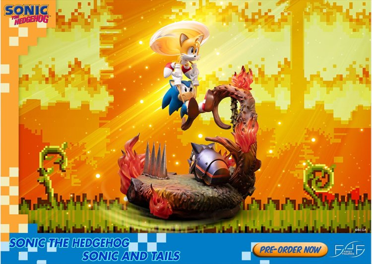 Sonic The Hedgehog - Sonic And Tails Standard Edition PVC Figure
