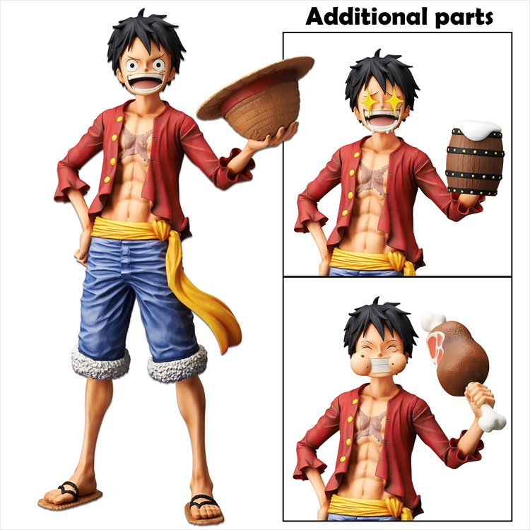 One Piece - Monkey. D. Luffy Grandista Nero PVC Figure