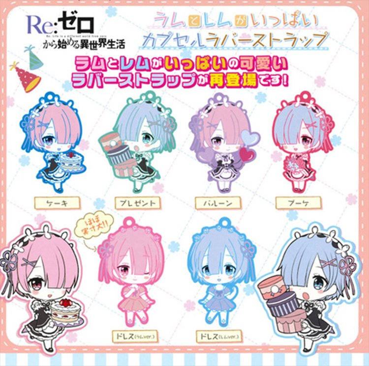 Re:Zero - Rem and Ram Rubber Strap Set of 6