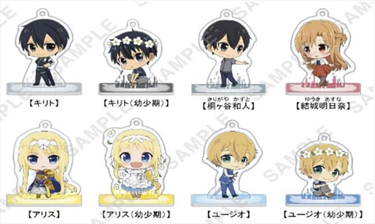 Sword Art Online Alicization - Acrylic Keychain Figure SINGLE BLIND BOX