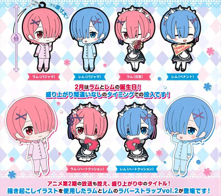 Re:Zero - Rem and Ram Rubber Strap Vol. 2 Set of 6