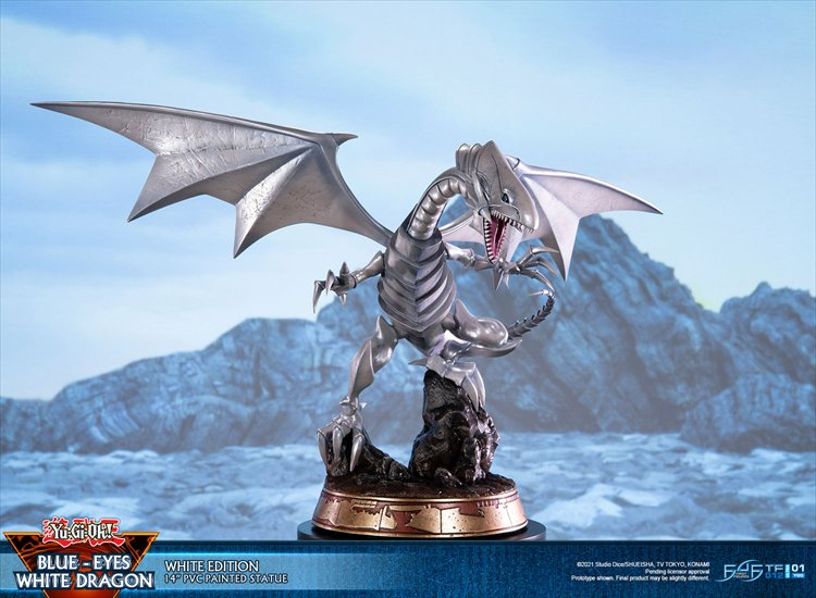 Yugioh - Non Scale Blue-eyes White Dragon White Variant Ver. PVC Statue