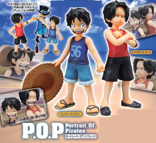 One Piece - 1/8 Luffy & Ace Brotherly Bonds Portrait of Pirates POP PVC Figures Set of 2 Re Release