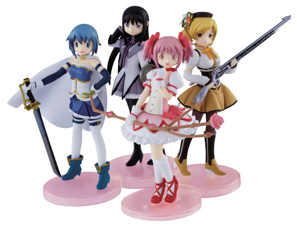 Puella Magi Madoka Magica - Mahou Shoujo Magical Girl Collection Trading Figures Set of 4