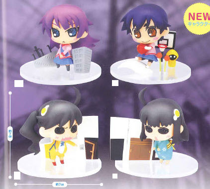 Bakemonogatari - Vinettium Cute Sega Prize Figures Set of 4