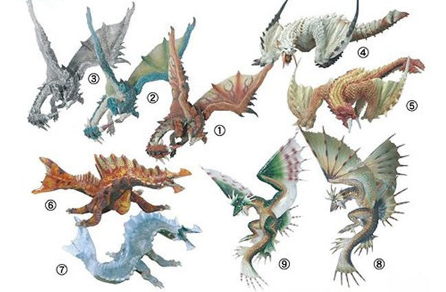 Monster Hunter - Stand Model Monster Hunter Vol. 5 Figures Set of 9