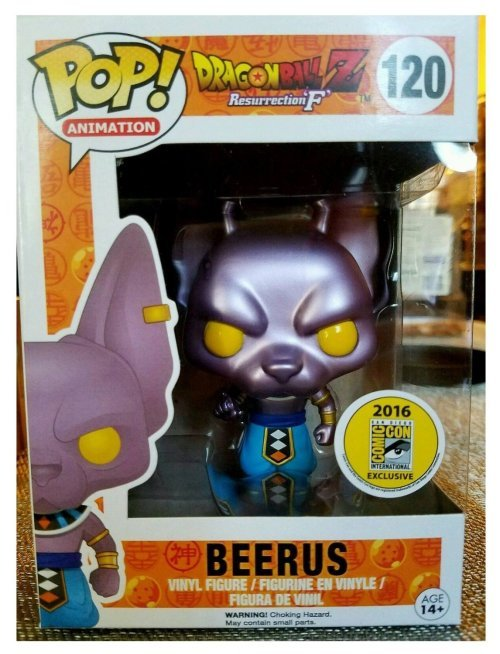 Dragon Ball Z Resurrection F - Beerus Metallic Ver. SDCC Exclusive Funko Pop with Beerus Trading Card