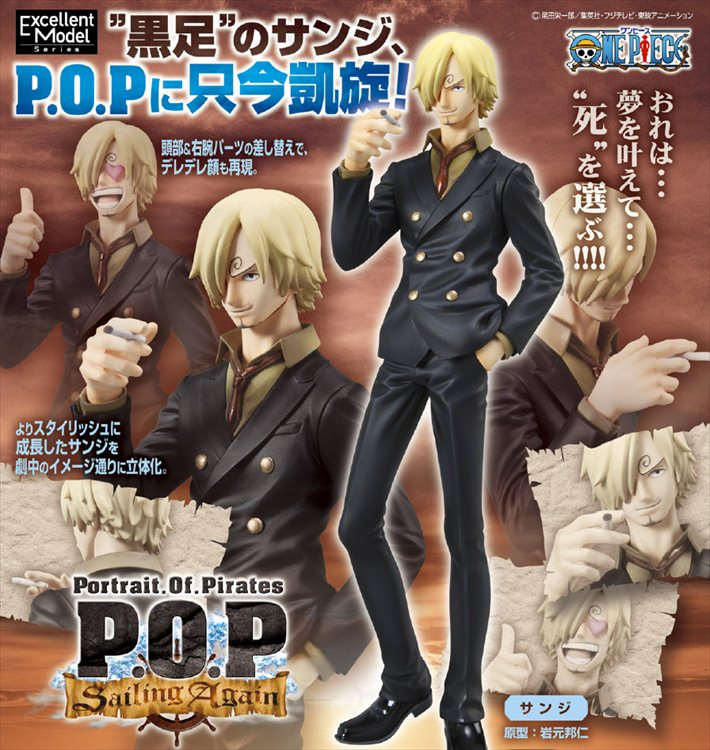 One Piece - 1/8 Sanji Sailing Again Re-release Portrait of Pirates POP Megahouse PVC Figure