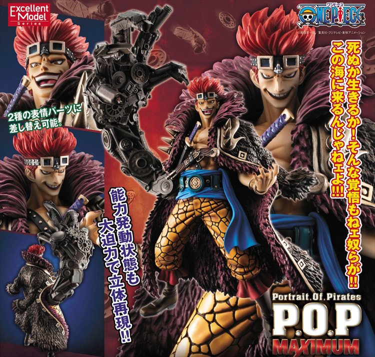 One Piece - 1/8 Eustass Captain Kid Neo Maximum Portrait of Pirates POP PVC Figure