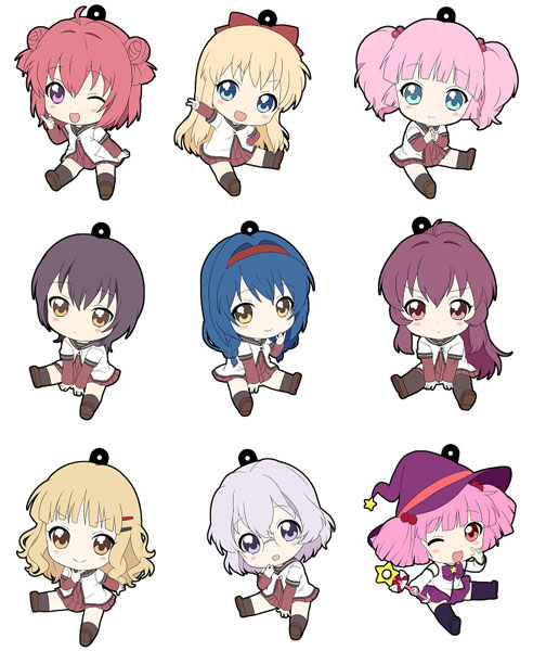 YuruYuri - Petanko Rubber Trading Strap Box Set of 10
