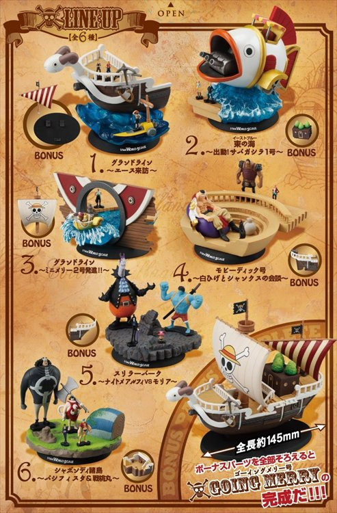 One Piece - 1/44 World Scale Going Merry Ship and Diorama Figure (Set of 6)