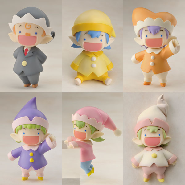 Jinrui wa Suitaishimashita - 1/2 Nakata-san and Friends Yousei-san Fairies Series Part 3. PVC Figures Set of 6