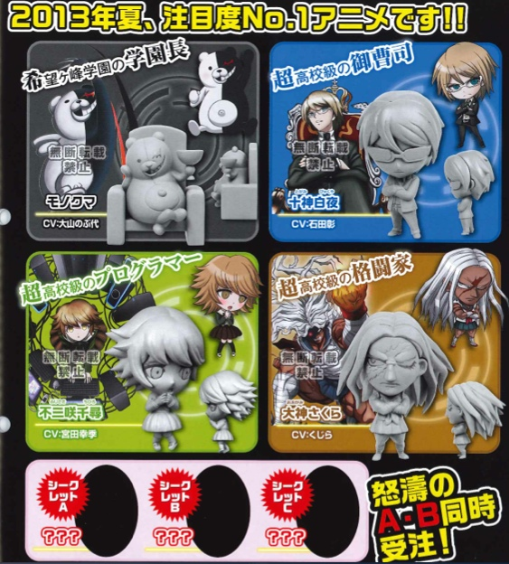 Dangan Ronpa - Deforme Mini Figures The Animation Side B Set of 7
