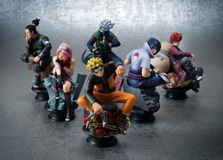 Naruto Shippuden - Naruto Chess Piece Collection R Vol. 1 Box Set of 6