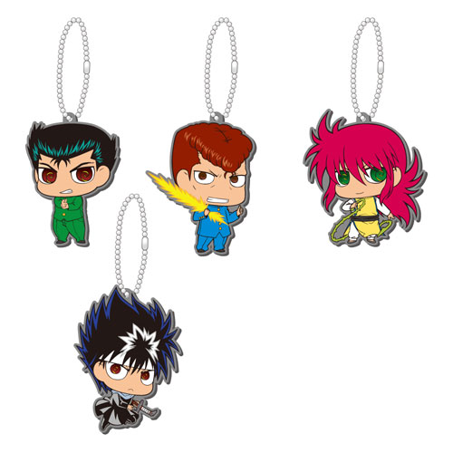 Yu Yu Hakusho - Rubber Mascot Vol. 2 Kessoku! Urameshi Team Set of 6