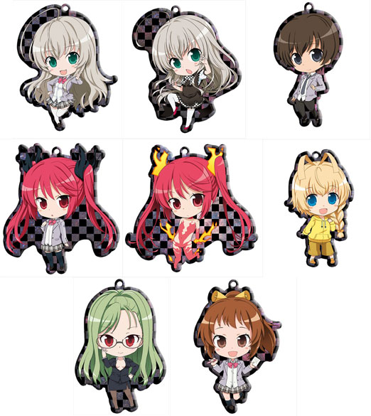 Haiyore Nyaruko san - Metal Charm Trading Strap Box Set of 8