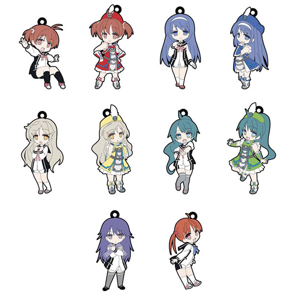 Vividred Operation - Character Rubber Trading Straps Set of 10