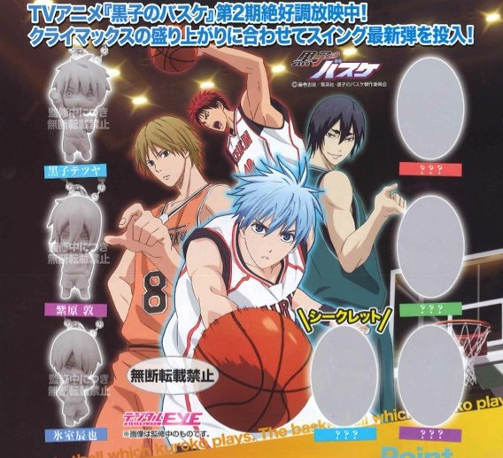 Kuroko no Basuke 2 - Digital Eye Climax Character Mascot Swing Charm (Single)