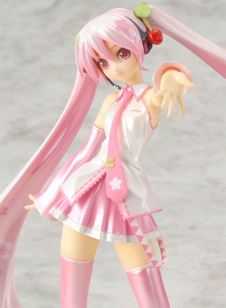 Vocaloid - 1/10 Sakura Miku Hatsune feat KEI Character Vocal Series 01 Figure Japan with Bonus Magazine
