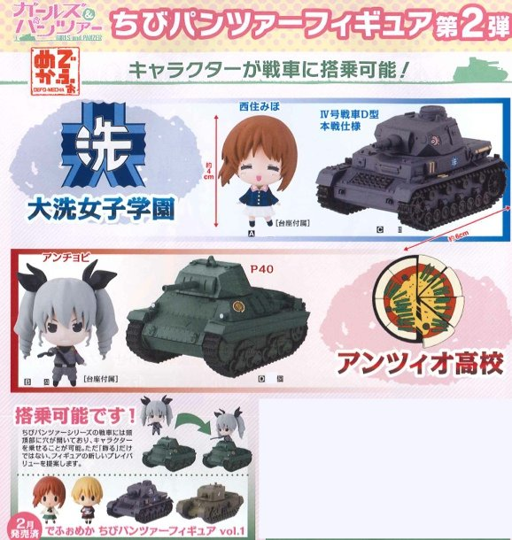 Girls and Panzer - Deformed Chibi Girls and Panzer Tank Set vol. 2 Set of 4