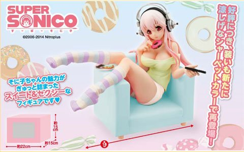 Nitro Plus - Super Sonico Sweets Time Donut and Chair Alternate Color ver. Prize Figure