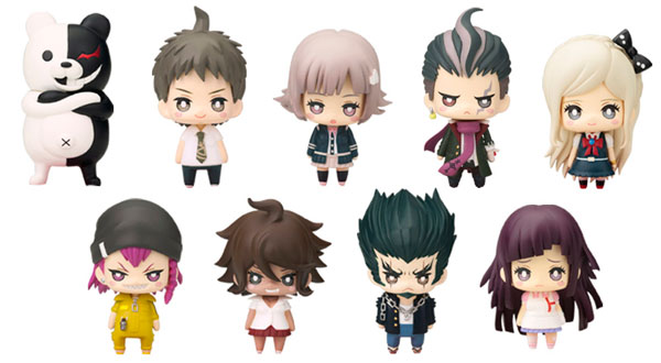 Super Dangan Ronpa 2 - One Coin Mini Character Figure Collection Chapter 01 Set of 9