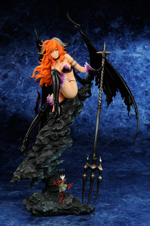 Black Arts Keeper- Curved Horn Demon PVC Figure
