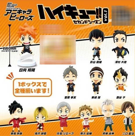 Haikyuu 2 - Mini Big Head Trading Figures Volume 1 - Single BLIND BOX