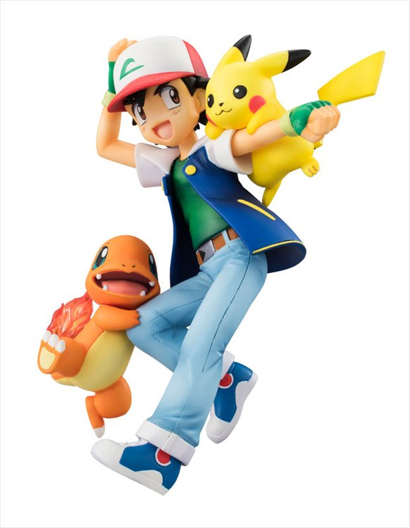 Pokemon - Ash, Pikachu, and Charmander GEM PVC Figure