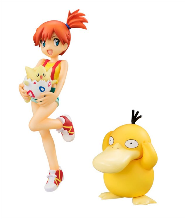 Pokemon - Misty, Togepi, and Psyduck GEM PVC Figure