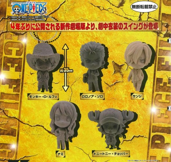 One Piece - One Piece Film Gold - Bandai Capsule Set of 5