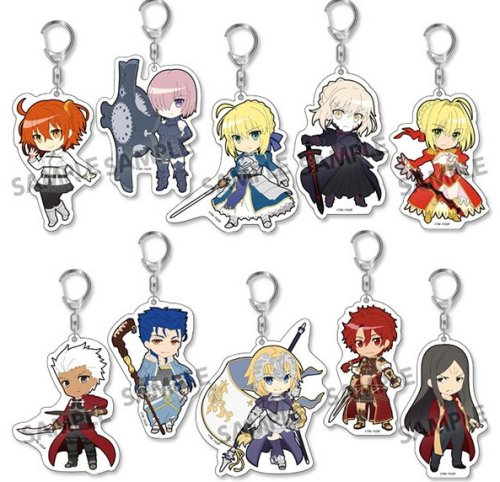 Fate Grand Order - Pic-Lil Acrylic Keychains Single BLIND BOX