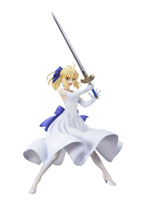 Fate Stay Night Unlimited Blade Works - 1/8 Saber White Dress Ver. PVC Figure