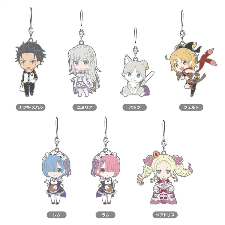 Re:Zero Starting Life in Another World - Nendoroid Plus Collectible Rubber Straps Single BLIND BOX