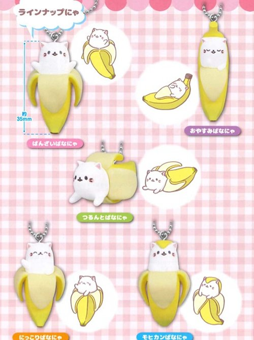 Bananya - Keychains Set of 5