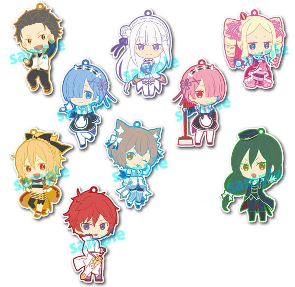 Re:Zero - Niitengomu Rubber Charms SINGLE BLIND BOX