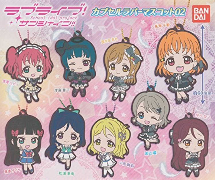 Love Live Sunshine - Ruber Keychains Vol. 2 Set of 9