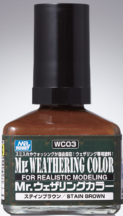 Mr Hobby - Mr Weathering Color Stain Brown WC03 40ml