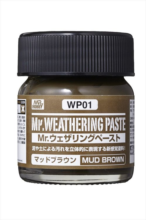 Mr Hobby - Mr Weathing Pastel Mud Brown WP01 40ml